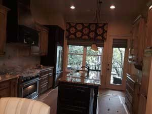 large window of kitchen