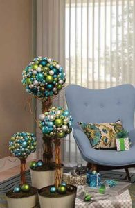 three decorated beautiful lamp