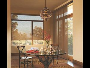 dining table in room with Skyline Gliding Window Panels