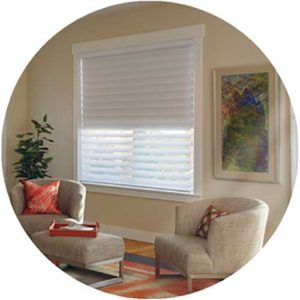 Silhouette Duo Lite shadings for windows in the living area