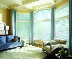 Silhouette® Window Shadings in Living Room