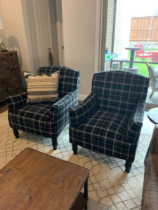 Gray Upholstered Chair in Plano, TX