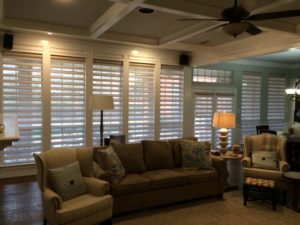 hunter douglas pirouette shades installed by read design in plano, tx
