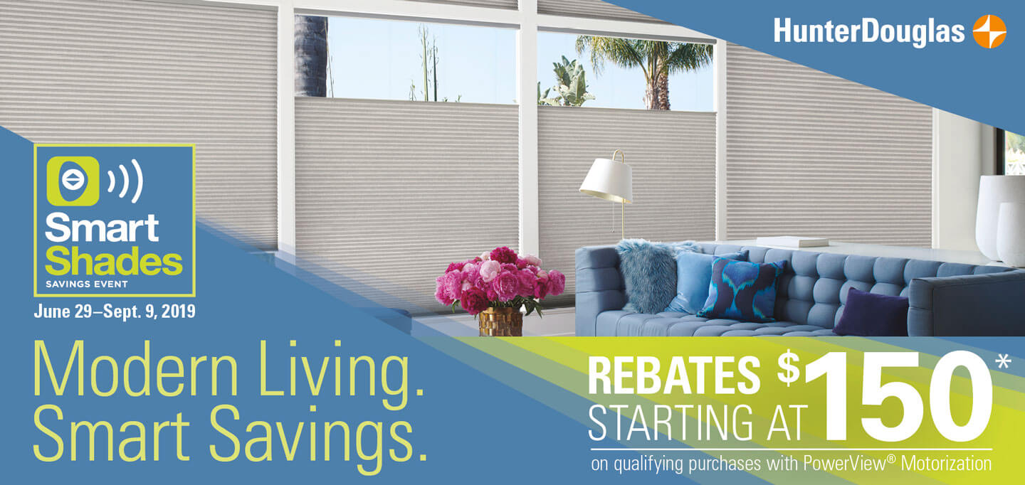 Smart Shades Savings Event promo banner