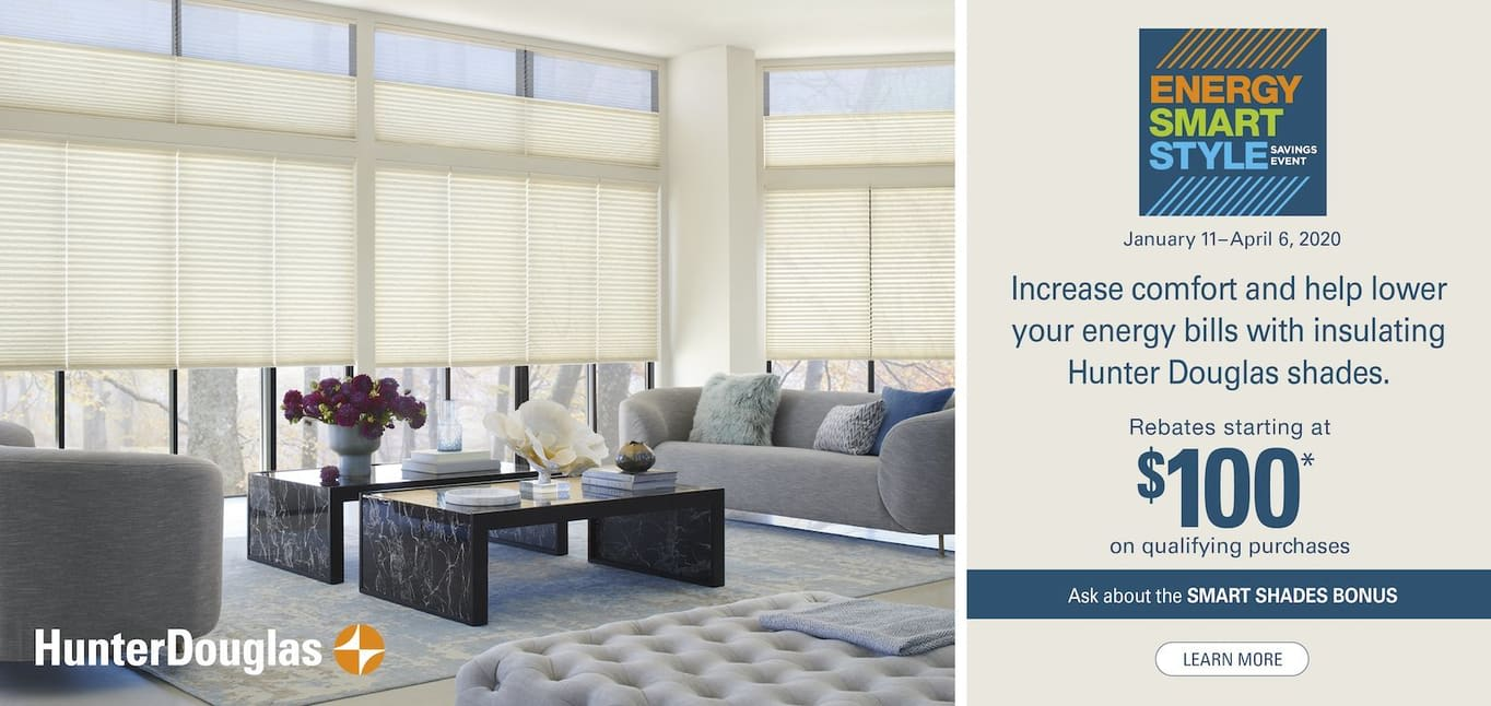Hunter Douglas 2020 Rebate offer, available at Read Design